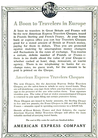 American Express Company AD  1920 (Image1)