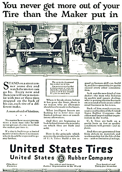 United States Tires AD -  1920 (Image1)