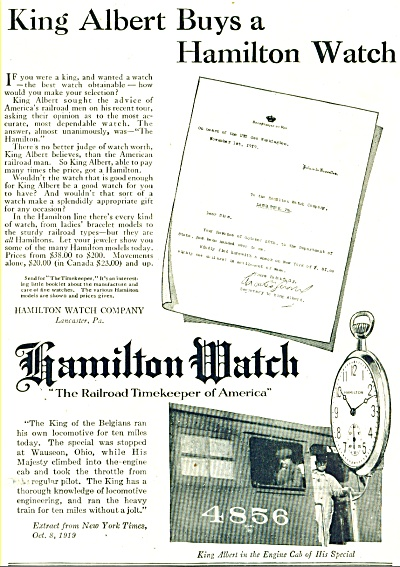 1920 Hamilton Watch AD (Image1)