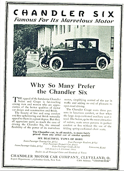 1920 Chandler Six Motor Car Ad (Image1)