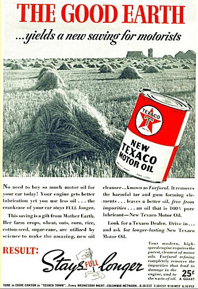 1938  Texaco Motor Oil Vintage AD (Image1)