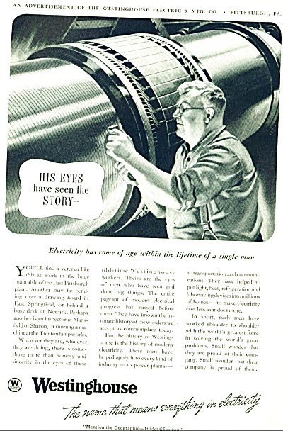 1920 Westinghouse electric Ad (Image1)