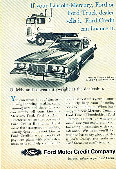 1973 Ford Motor Credit Company AD COUGAR xr7 (Image1)