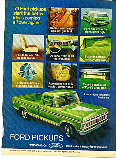 1973 FORD Pick Up Truck LIME GREEN AD (Image1)
