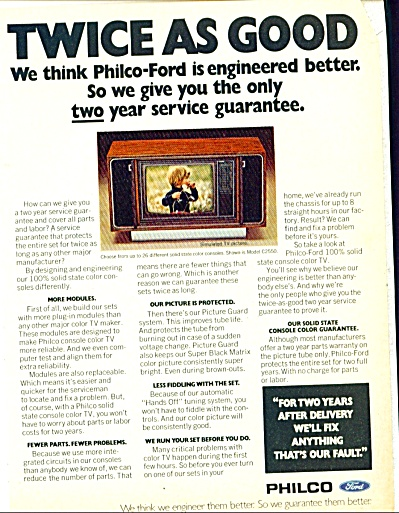 1973 Philco Ford TV Television Ad (Image1)