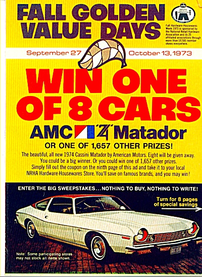 1973 AMC MATADOR AD Fall Golden Value Days (Image1)