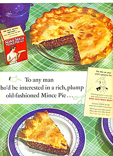 1937 None Such Mince Meat Ad Fiesta Sugar