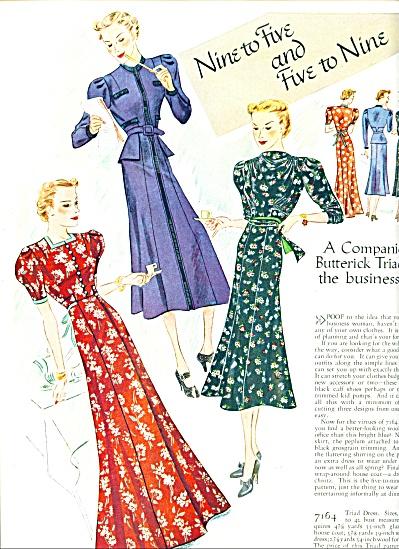 1937 Butterick PatternsFASHIONS ADS ERNST ART (Image1)