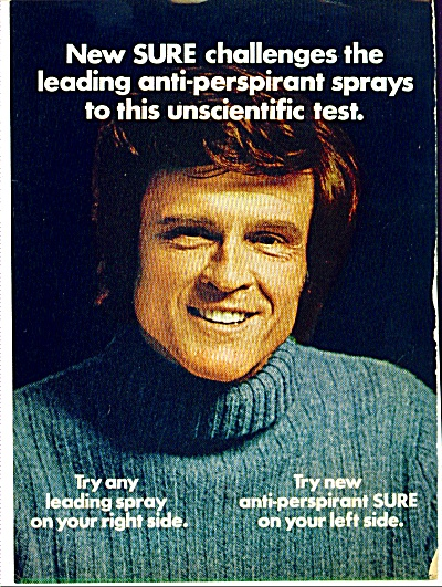 1973 Sure Deodorant Ad Charles Grodin
