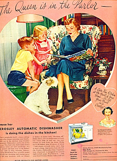 1953 PINKS Crosley Automatic Dishwasher Ad (Image1)