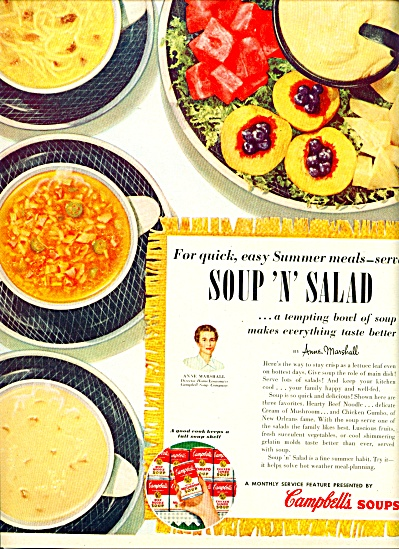 Campbell's Soups Ad - August 1953 (Image1)