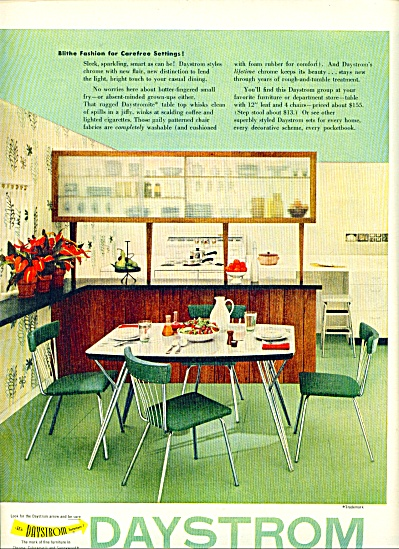 1963 Daystrom BLITHE EAMES Furniture AD RETRO (Image1)