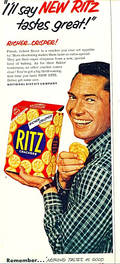 Ritz Crackers Ad -  August 1953 (Image1)
