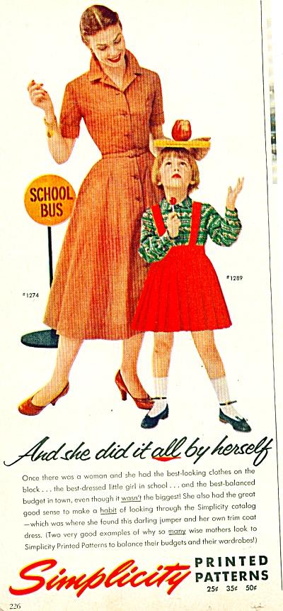 1955 Simplicity Clothes Pattern - PANDORA AD (Image1)