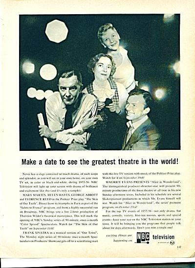 NBC Television Ad - September 1955 (Image1)