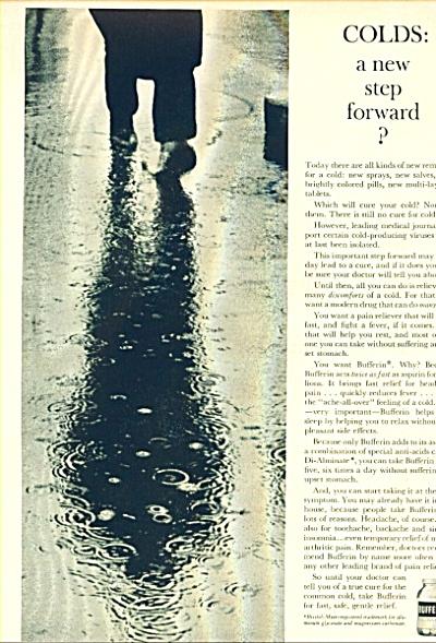 1961 BRISTOL MYERS BUFFERIN Medicine AD (Image1)