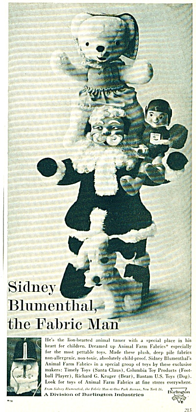 1961 Burlington TOY AD Timely Santa ++ AD (Image1)