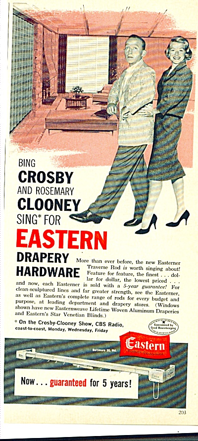61 Eastern  BING CROSY ROSEMARY CLOONEY  Ad (Image1)