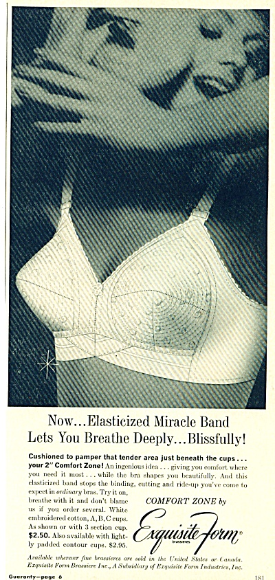 1961 Exquisite Form Bra Ad Pointy Madonna