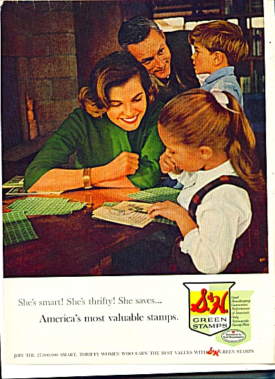 1961 S & H Green Stamps AD Family Collecting (Image1)