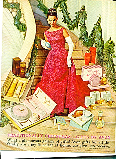 1961 AVON GIFTS Elegant Woman Galaxy AD (Image1)