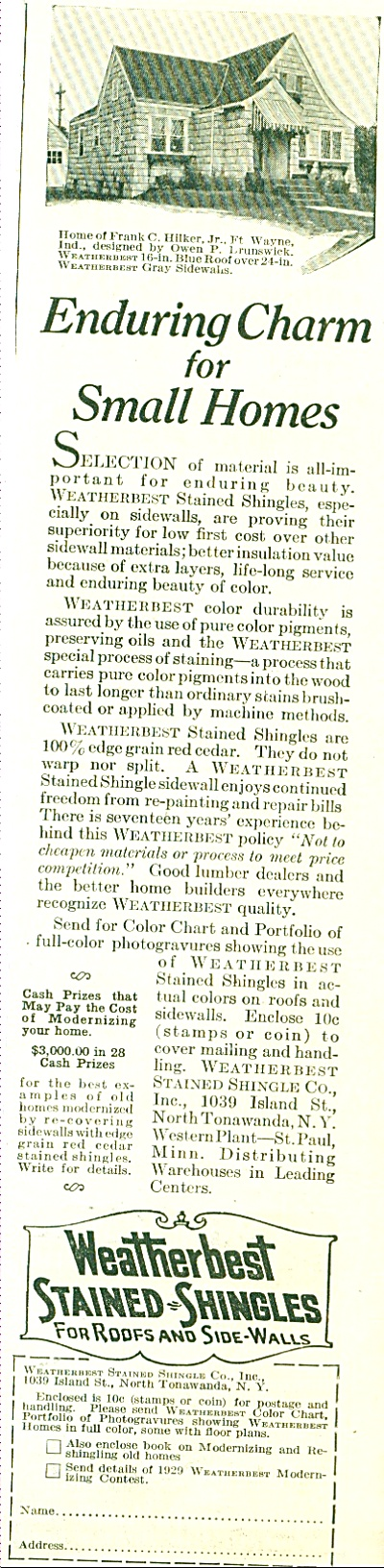 1929 Weatherbest Stained Shingles AD (Image1)