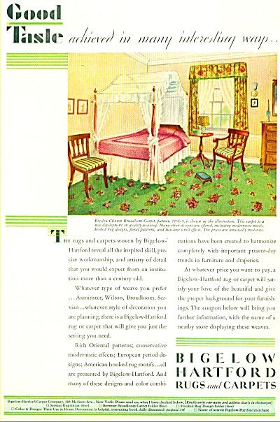 1929 Bigelow Hartford Rugs and Carpets ad (Image1)
