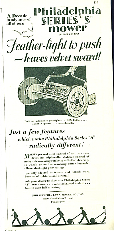 Philadelphia Lawn Mower Co., Inc. ad - 1929 (Image1)