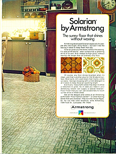 1973 Armstrong Solarian Tile Linoleum Ad Armstrong Floors