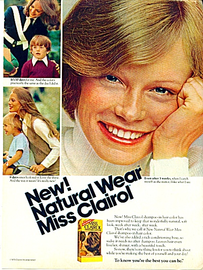 1973 MISS CLAIROL AD ~ MODEL SHELLY HACK (Image1)