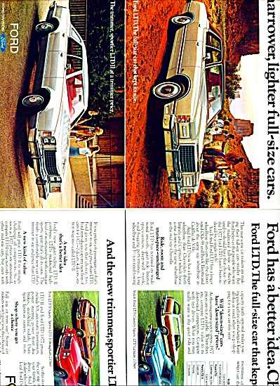 1977 Ford Motor Co. Ad LTD LTDII 2 page (Image1)