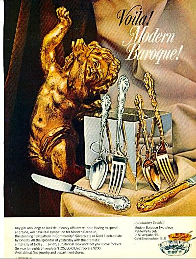 1969 Oneida MODERN BAROQUE Silverware AD (Image1)