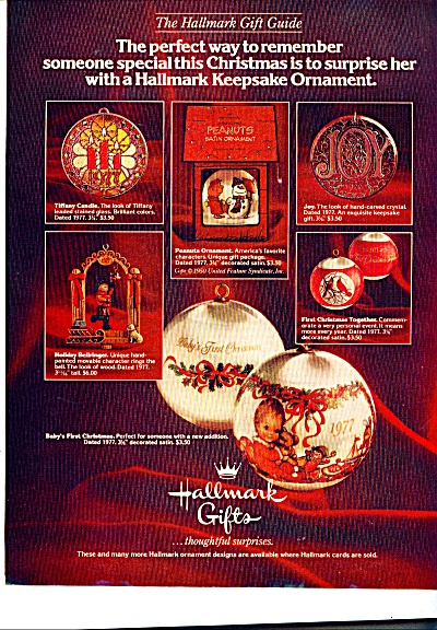 Hallmark Gifts Ad -  November 1969 (Image1)