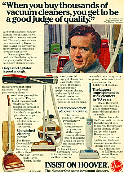 1969 HOOVER Vacuum Cleaner AD - Playskool Toy (Image1)