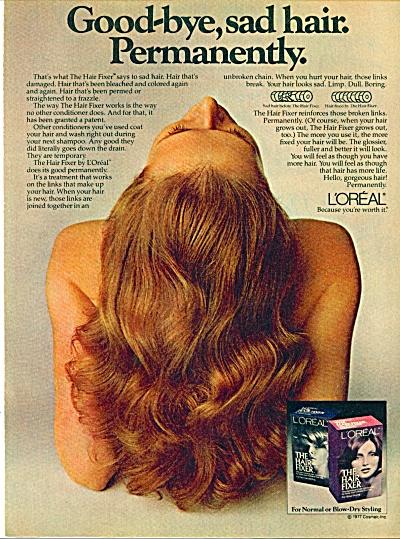 L'Oreal Hair fixer ad -  November 1969 (Image1)