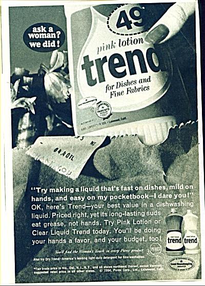 Trend dish soap ad -  June 1959 (Image1)