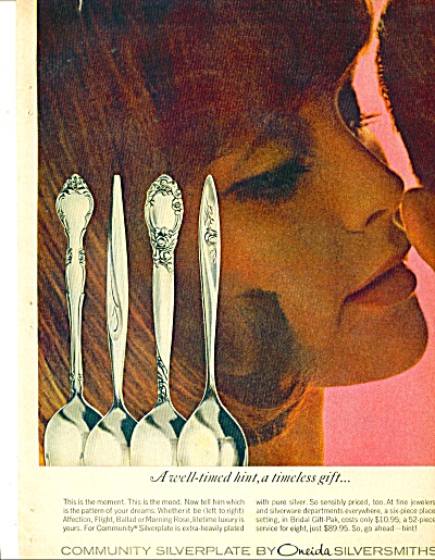 1959 ONEIDA Silverplate AD AFFECTION FLIGHT + (Image1)