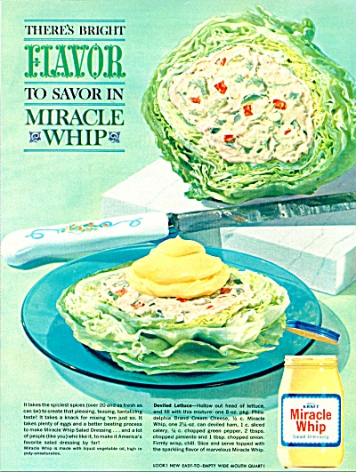 1960's KRAFT Miracle Whip Ad Salad Dressing (Image1)