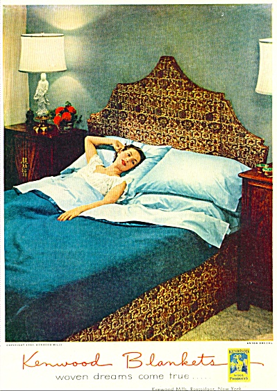 1951 KENWOOD Blanket - ADMIRAL Fridge AD (Image1)