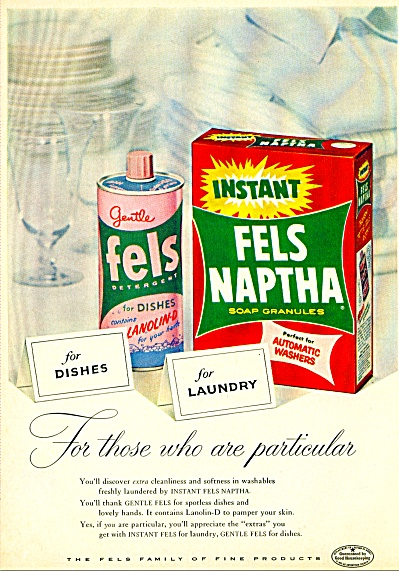 Fels Naptha Soap Ad And/or Campbell's Soups