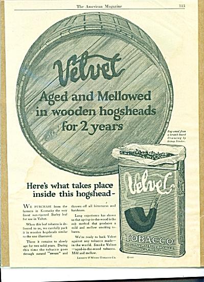 1922 Velvet Tobacco LIGGETT MYERS AD (Image1)