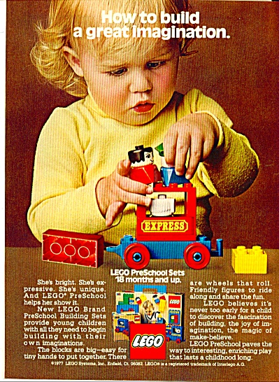 1977 LEGO Pre School Building Blocks AD (Image1)