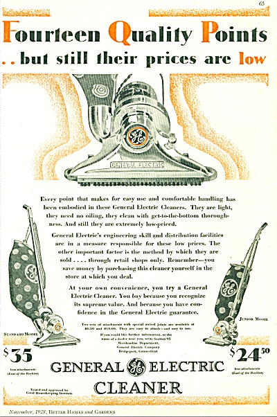 1928 General Electric Vacuum Electric Cleaner