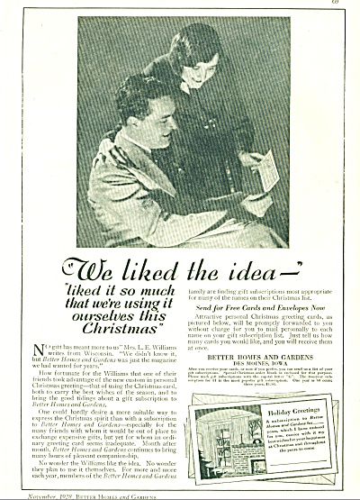 1928 Better homes & Gardens Magazine AD VTG (Image1)