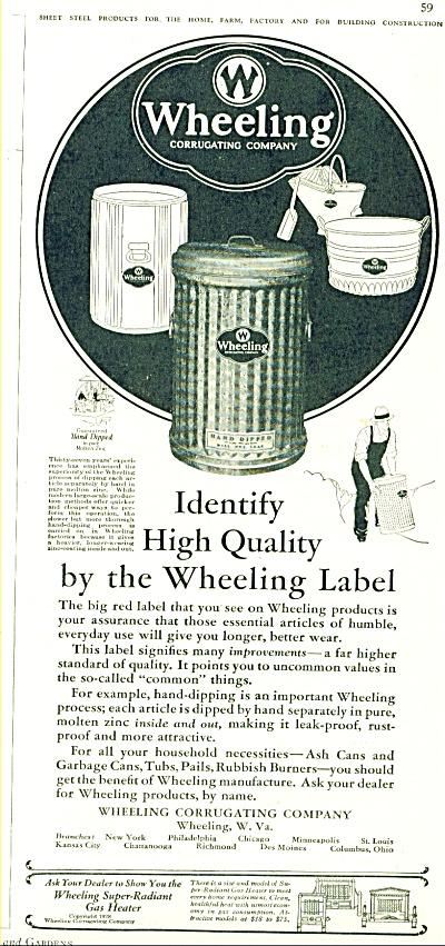 Wheeling corrugating company ad - 1928 (Image1)