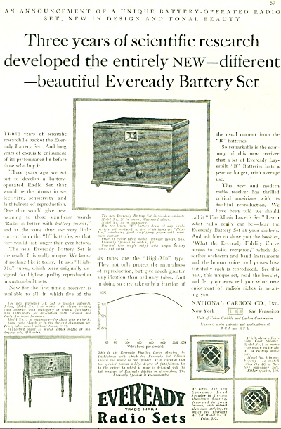 1928 Eveready Radio sets Ad (Image1)