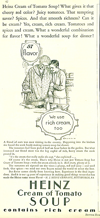 1928 HEINZ CREAM OF TOMATO SOUP AD VINTAGE (Image1)