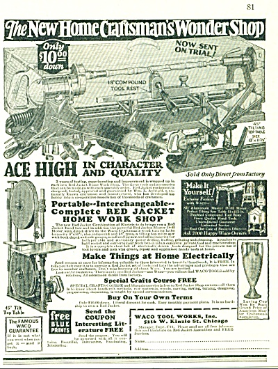 1928 Craftsman Wonder Waco Tools Ad