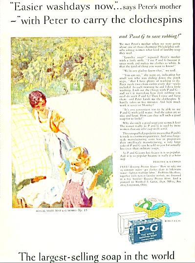 1928 PROCTOR GAMBLE NAPHTHA SOAP AD SUNDBLOM (Image1)