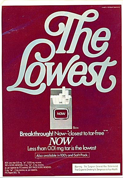 1980 NOW Cigarettes AD R.J. Reynolds (Image1)